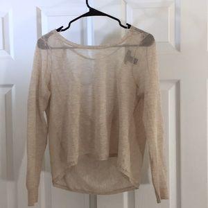 WHBM oat sheer blouse